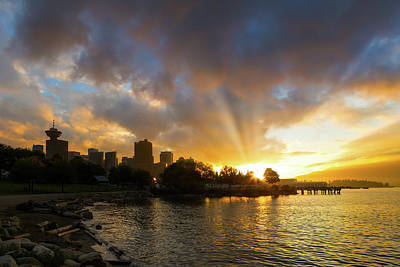 Photograph - Sunset Over Vancouver Bc At Crab Park by Jit Lim