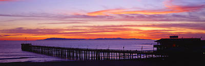 Sunset Over Ventura Pier Channel Art Print by Panoramic Images