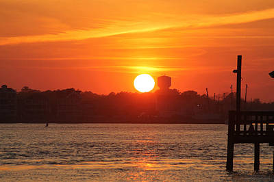 Photograph - Sunset Over W Ocean City Md by Robert Banach