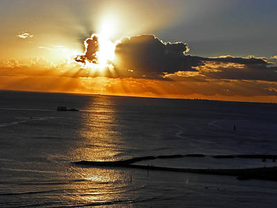 Photograph - Sunset Over Waikiki IIi by Elizabeth Hoskinson