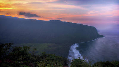 Photograph - Sunset Over Waipio Valley Overlook by Susan Rissi Tregoning