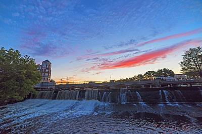 Photograph - Sunset Over Waltham Charles River Waltham Ma by Toby McGuire