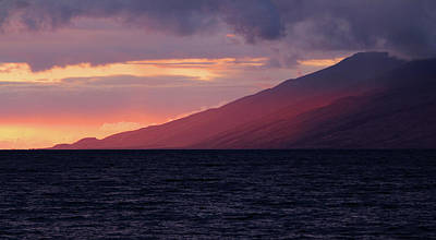 Photograph - Sunset Over West Maui by Robin Street-Morris