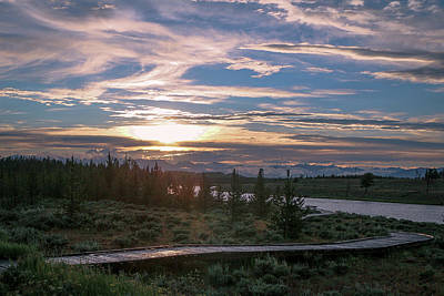 Photograph - Sunset Over West Yellowstone by David Lyle