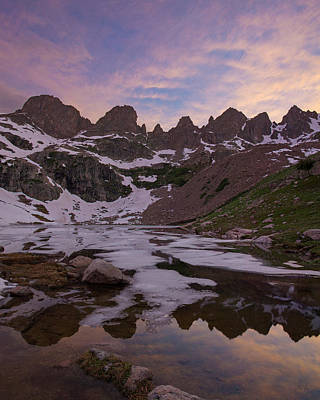 Gore Range Photograph - Sunset Over Willow Lake by Aaron Spong
