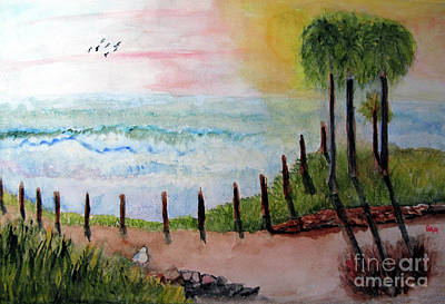 Painting - Sunset Overlook by Sandy McIntire