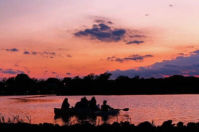 Photograph - Sunset Paddle On Twilight Lake by Kathleen McGinley
