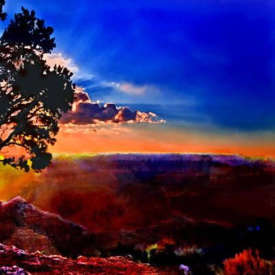 Sunset Painting Grand Canyon Original by Bob and Nadine Johnston