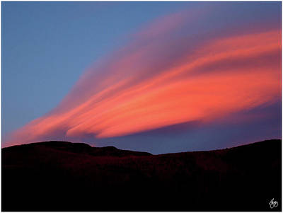 Photograph - Sunset Paints Stinson Mountain by Wayne King