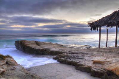 Palapas Wall Art - Photograph - Sunset Palapa by Kelly Wade