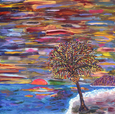 Malibu Painting - Malibu Sunset by Lorin Zerah