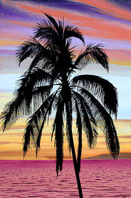Painting - Sunset Palm Maui by Pierre Leclerc Photography