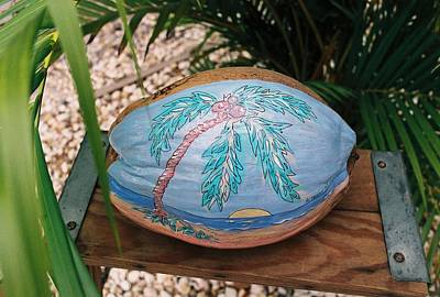 Mixed Media - Sunset Palm by Nancy Taylor