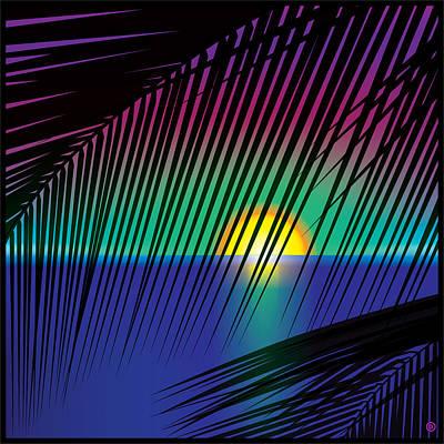 Digital Art - Sunset Palms by Gary Grayson