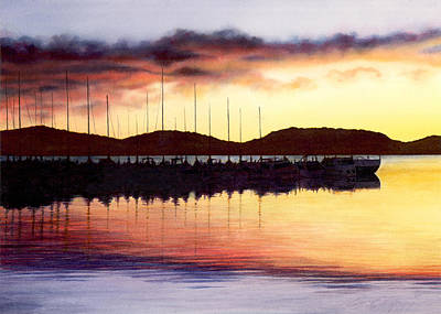 Painting - Sunset Panorama Left Side by Cory Calantropio