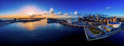 Photograph - Sunset Panorama - Miami Florida by Ralph Nas