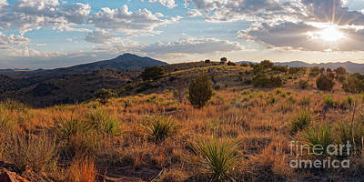 Photograph - Sunset Panorama Of Blue Mountain At Davis Mountains State Park - Indian Lodge Trail Fort Davis Texas by Silvio Ligutti
