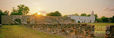 Photograph - Sunset Panorama Of San Juan Capistrano And Ruins - San Antonio Missions National Historical Park  by Silvio Ligutti
