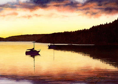 Painting - Sunset Panorama Right Side by Cory Calantropio