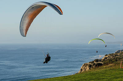 Photograph - Sunset Paragliders by Susan  McMenamin