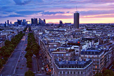 Photograph - Sunset - Paris - France by Nikolyn McDonald