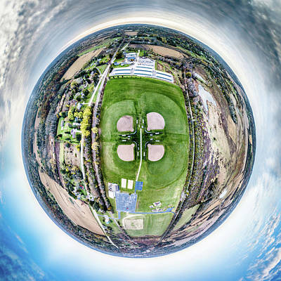 Photograph - Sunset Park Little Planet by Randy Scherkenbach