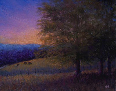 Pastel - Sunset Pasture by Susan Jenkins