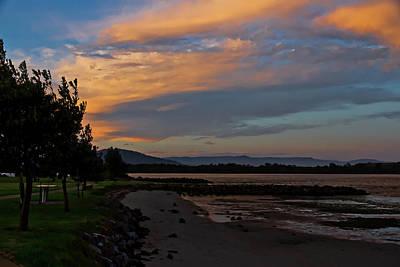 Photograph - Sunset Path At Greenwell Point by Miroslava Jurcik