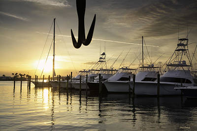 Photograph - Sunset, Pelican Island Yacht Club by Fran Gallogly