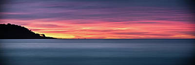 Print featuring the photograph Sunset Penisular, Bunker Bay by Dave Catley