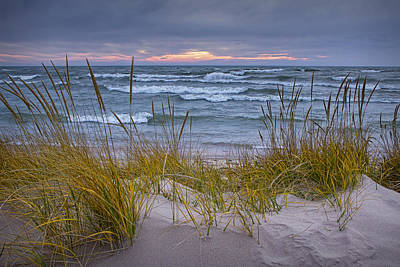 Design Pics - Sunset Photograph of a Dune with Beach Grass by Randall Nyhof