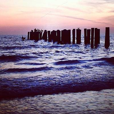 Beach Photograph - Sunset On The Gulf by Heidi Hermes