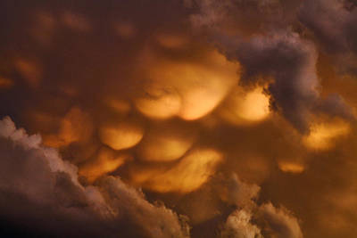 Photograph - Sunset Pillow Clouds by James Steele