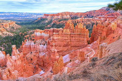 Photograph - Sunset Point At Bryce Canyon by John M Bailey