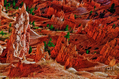 Photograph - Sunset Point Bryce Canyon A Rocky View by Blake Richards