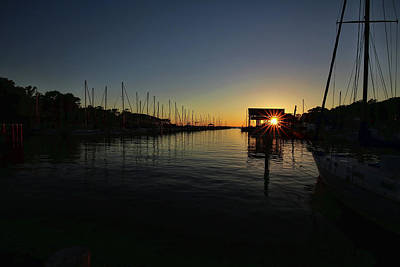 Photograph - Sunset Pointe At Fly Creek Marina by Judy Vincent