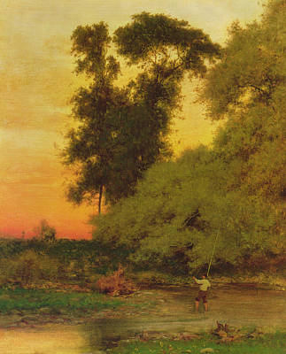Sunset, Pompton, New Jersey Art Print by George Inness Snr
