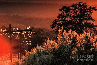 Sunset Power Light Original by Kim Lessel