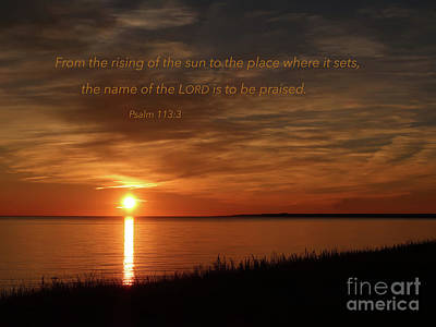 Photograph - Sunset Psalm by Ann Horn