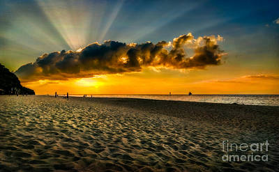 Photograph - Sunset Puka Beach by Adrian Evans