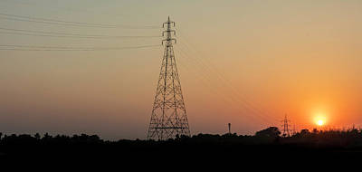 Photograph - Sunset Pylons by Chris Cousins