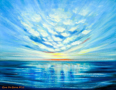 Painting - Sunset Quest Blue by Gina De Gorna