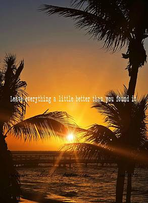 Sunset Quote Art Print by JAMART Photography