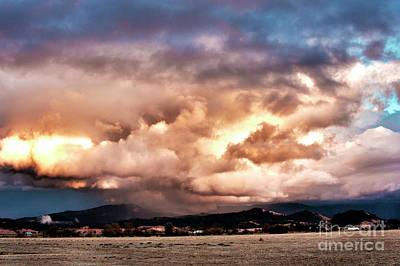 Photograph - Sunset Rain Clouds by Janie Johnson