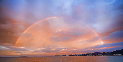 Art Print featuring the photograph Sunset Rainbow by Steve Siri