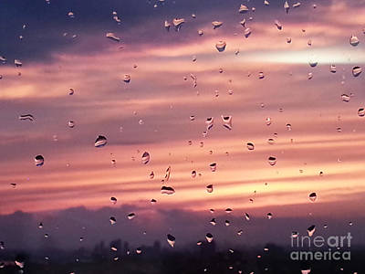 Photograph - Sunset Raindrops by Alana Boltwood