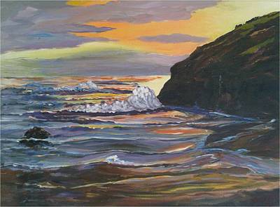 Painting - Sunset by Ray Khalife