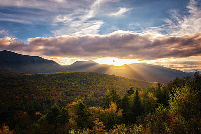 Photograph - Sunset Rays Near Mount Osceola by Kim Carpentier