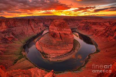 Photograph - Sunset Refections At Horseshoe Bend by Adam Jewell