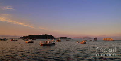 Photograph - Sunset Reflecting On Lobsterboats by Lennie Malvone